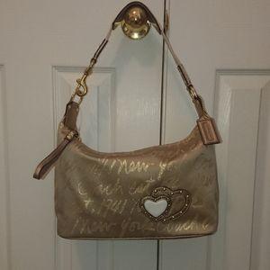 NWOT Coach Gold Shoulder Bag